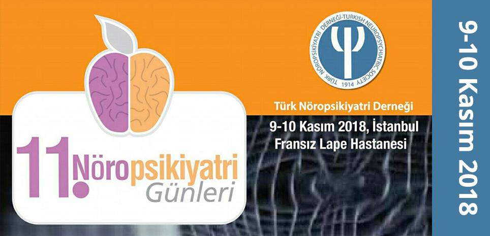 11. Nöropsikiyatri Günleri 9-10 Kasım 2018, İstanbul Fransız Lape Hastanesinde Başlıyor